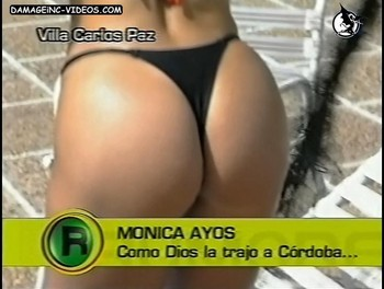Monica Ayos sexy ass in black bikini thong