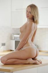 sexy woman topless hot ass blonde