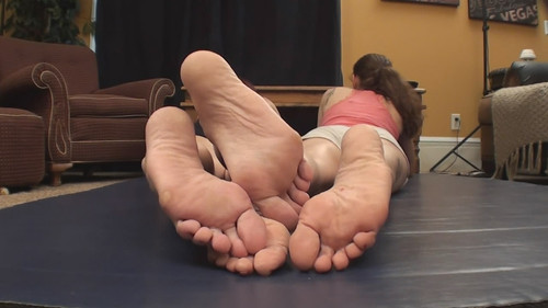 Savannah and Angie sexy footsie session