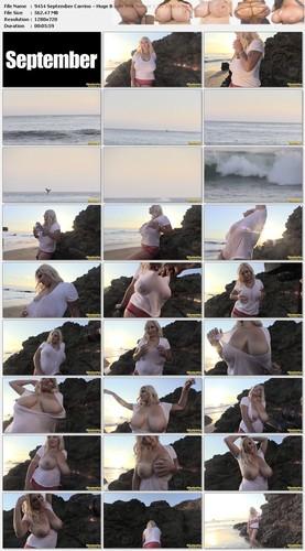 September Carrino – Huge Boobs Wet Sunset 1 HD 720p