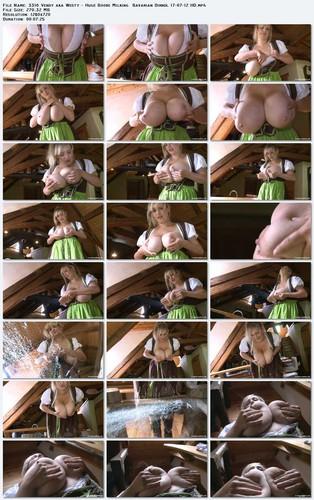 Vendy aka Westy   Huge Boobs Milking  Bavarian Dirndl HD