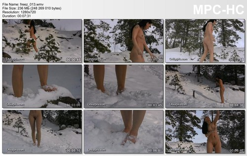 Frost, Humiliation, Naked, Rope, Tied, Ice, Snow, Tattoo,